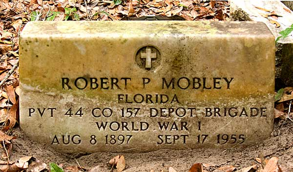 Robert P. Mobley Gravestone Photo