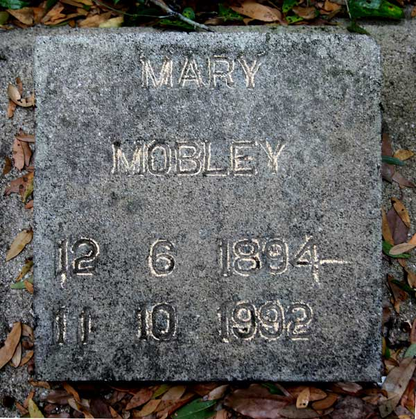 Mary Mobley Gravestone Photo