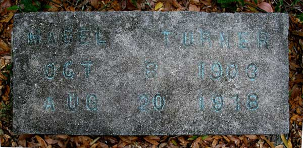 Mabel Turner Gravestone Photo