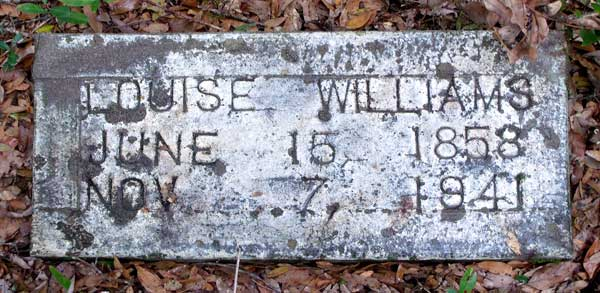 Louise Williams Gravestone Photo