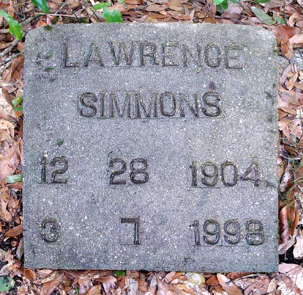 Lawrence Simmons Gravestone Photo