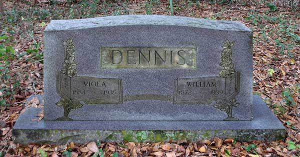 Viola & William Dennis Gravestone Photo