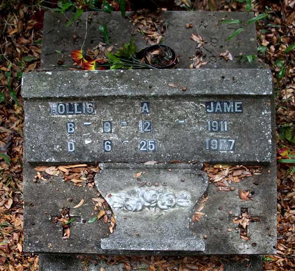 Hollis A. Jame Gravestone Photo