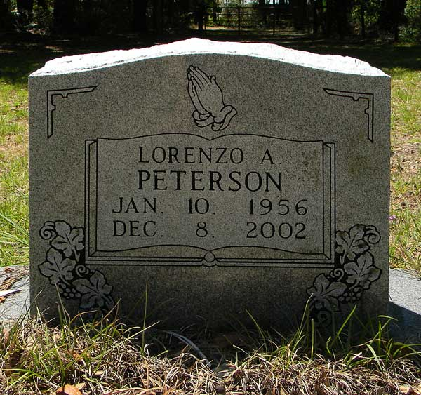 Lorenzo A. Peterson Gravestone Photo
