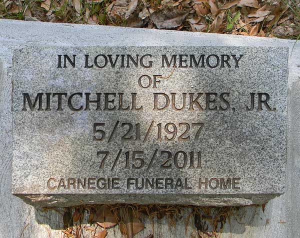 Mitchell Dukes Gravestone Photo