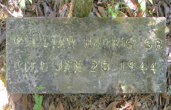 William Harris Gravestone Photo