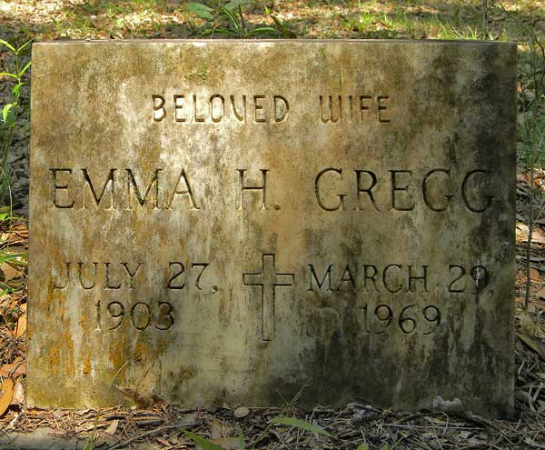 Emma H. Gregg Gravestone Photo