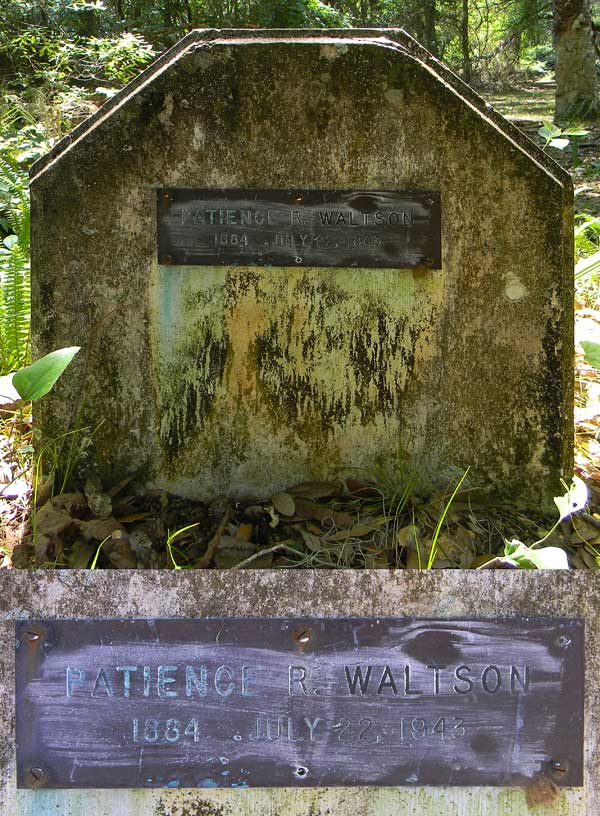 Patience R. Waltson Gravestone Photo