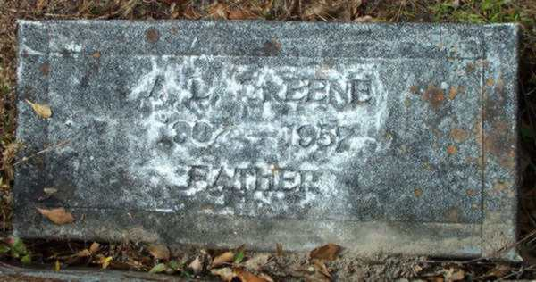 A.L. Greene Gravestone Photo