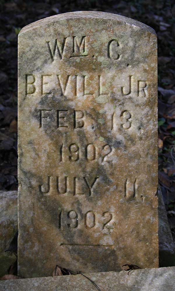 Wm. C. Bevill Gravestone Photo