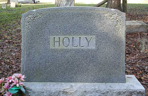 Holly monument Gravestone Photo