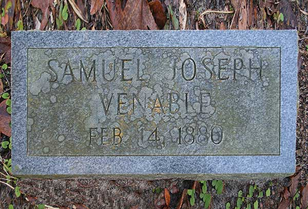 Samuel Joseph Venable Gravestone Photo
