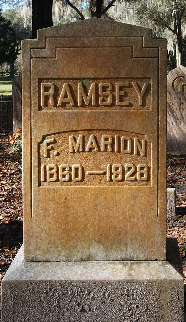 F. Marion Ramsey Gravestone Photo
