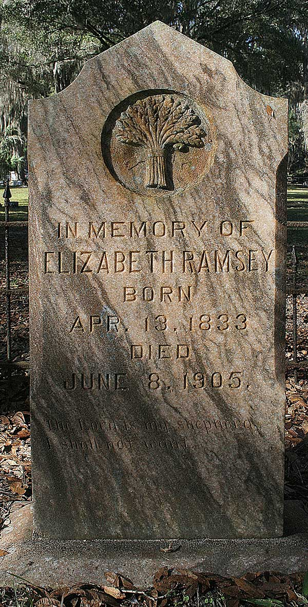 Elizabeth Ramsey Gravestone Photo
