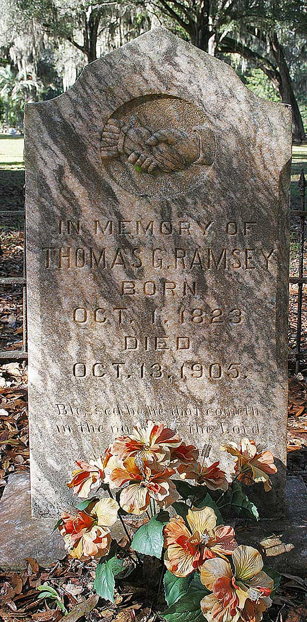 Thomas G. Ramsey Gravestone Photo