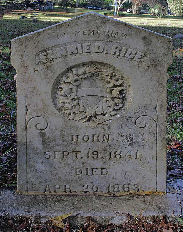 Fannie D. Rice Gravestone Photo