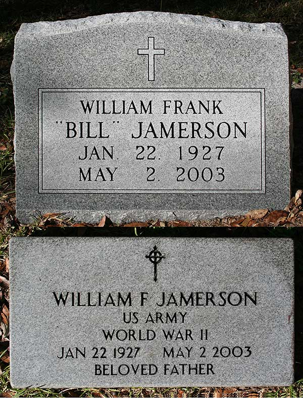 William Frank Jamerson Gravestone Photo