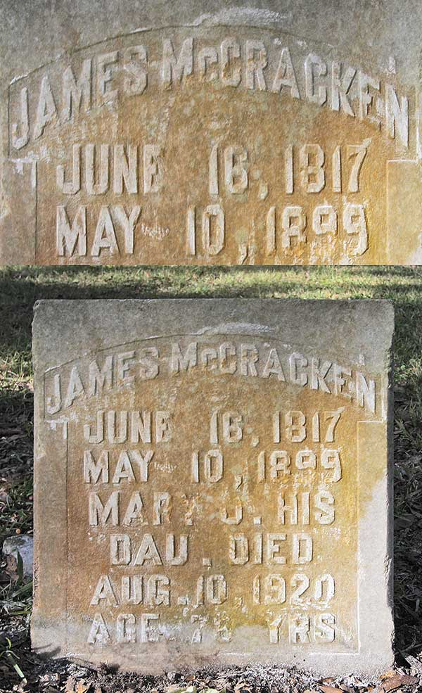 James McCracken Gravestone Photo