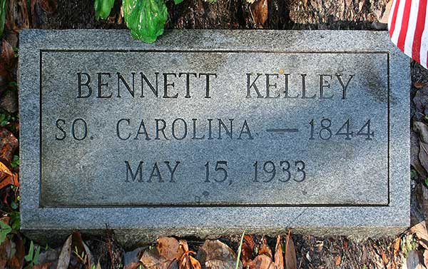 Bennett Kelley Gravestone Photo