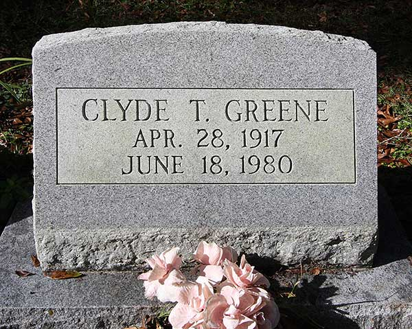Clyde T. Greene Gravestone Photo