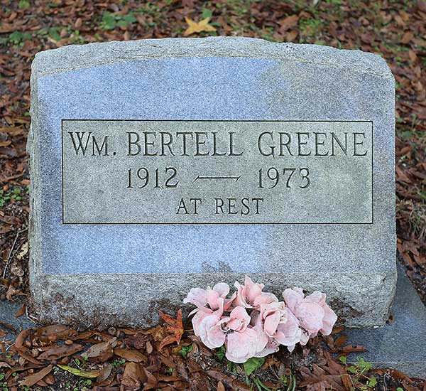 Wm. Bertell Greene Gravestone Photo