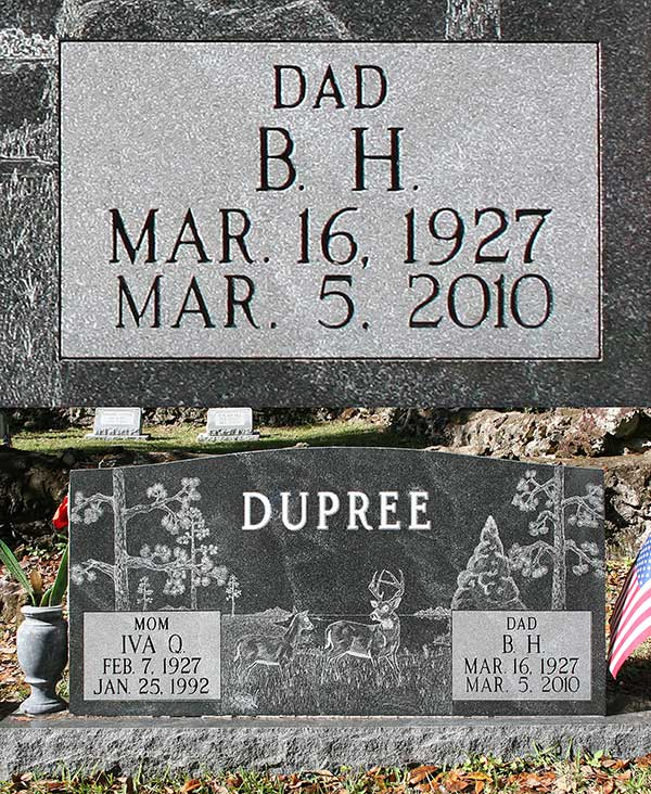 B.H. Dupree Gravestone Photo