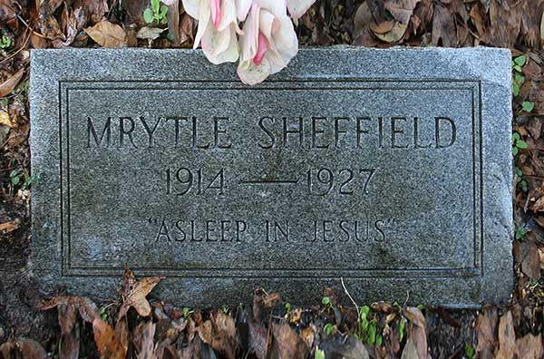 Mrytle Sheffield Gravestone Photo