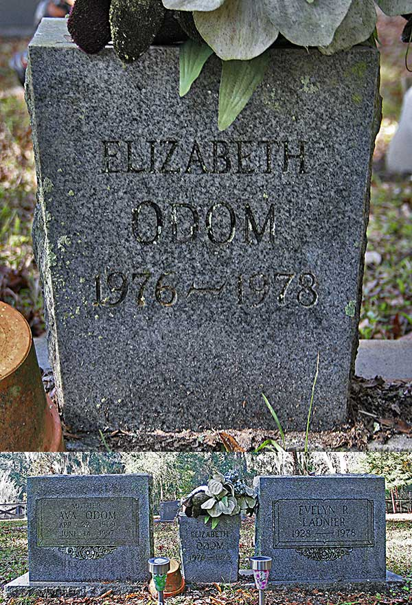 Elizabeth Odom Gravestone Photo