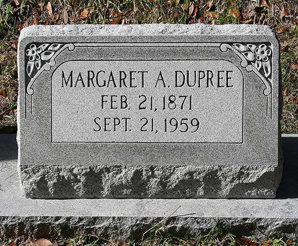 Margaret A. Dupree Gravestone Photo