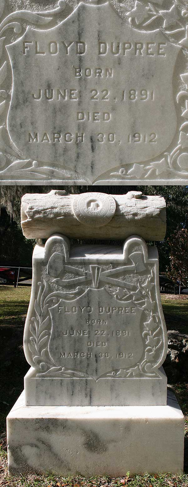 Floyd Dupree Gravestone Photo