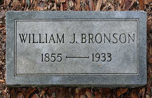 William J. Bronson Gravestone Photo
