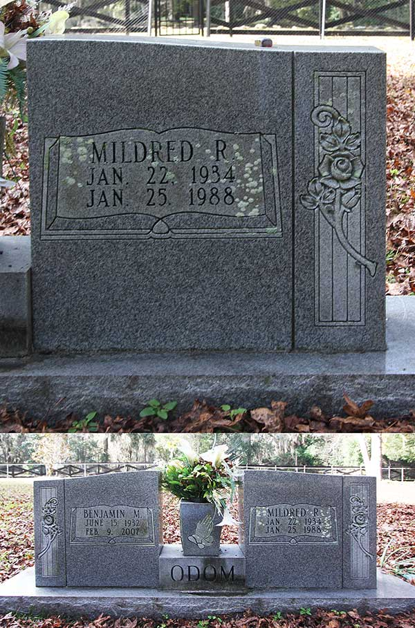 Mildred R. Odom Gravestone Photo