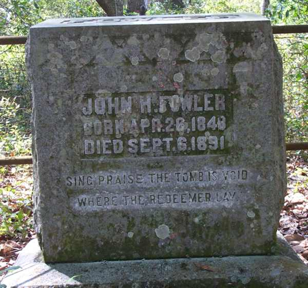 John H. Fowler Gravestone Photo