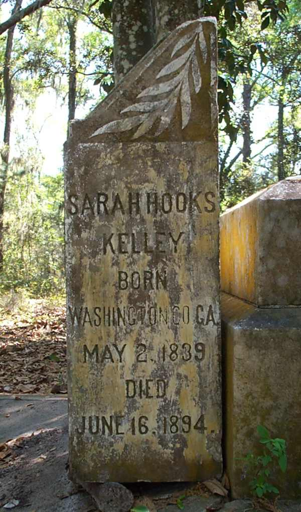 Sarah Hooks Kelley Gravestone Photo