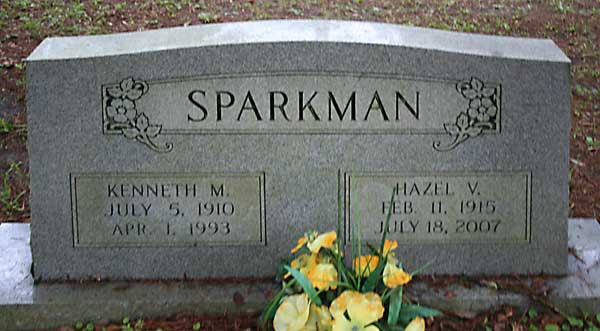 Kenneth M. & Hazel V. Sparkman Gravestone Photo