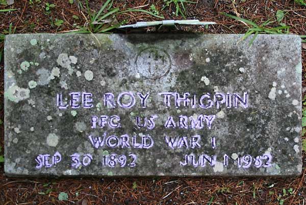 Lee Roy Thigpin Gravestone Photo