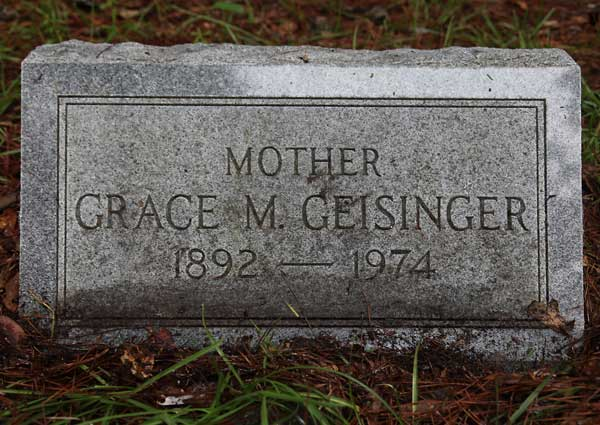 Grace M. Geisinger Gravestone Photo