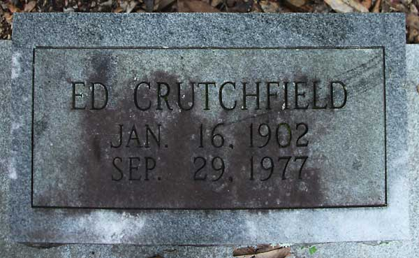 Ed Crutchfield Gravestone Photo