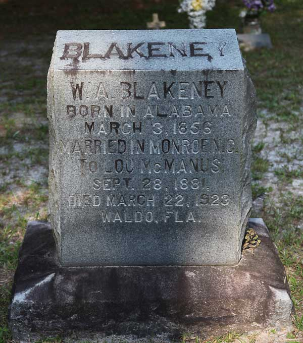 W. A. Blakeney Gravestone Photo