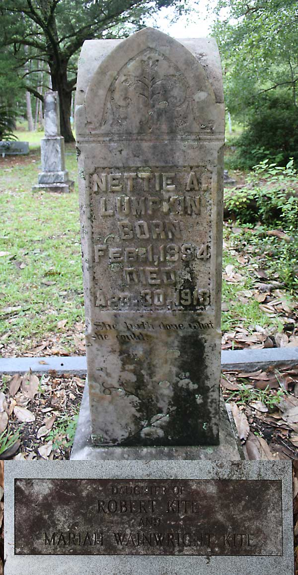 Nettie A. Lumpkin Gravestone Photo