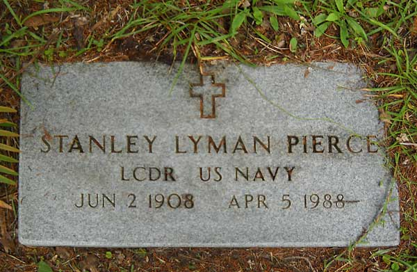 Stanley Lyman Pierce Gravestone Photo