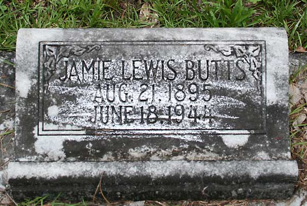 Jamie Lewis Butts Gravestone Photo