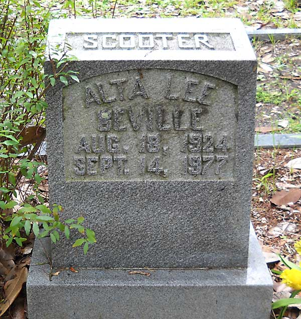 Alta Lee Beville Gravestone Photo
