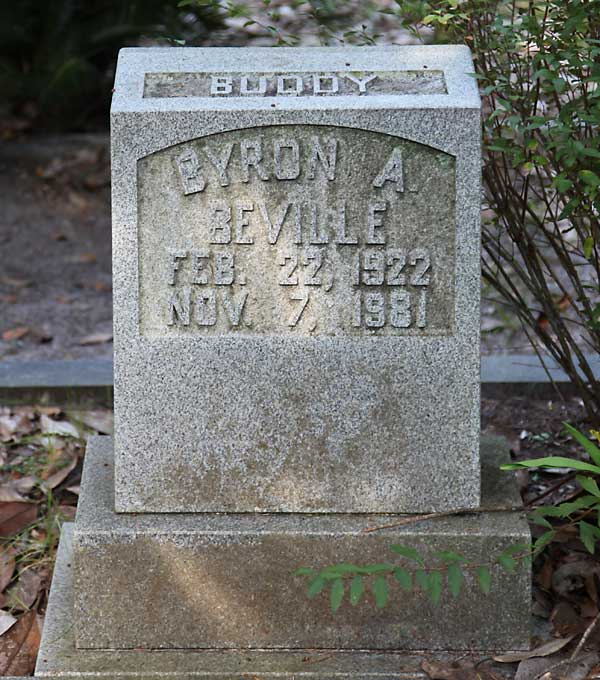 Byron A. Beville Gravestone Photo