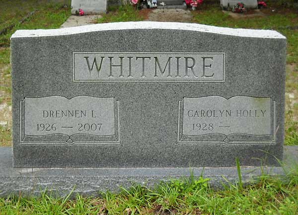 Drennen L. & Carolyn Holly Whitmire Gravestone Photo