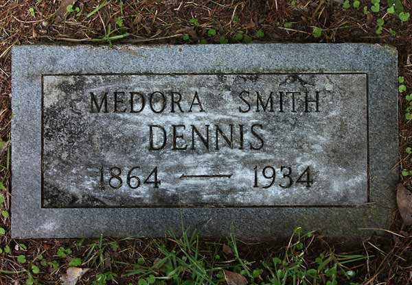 Medora Smith Dennis Gravestone Photo