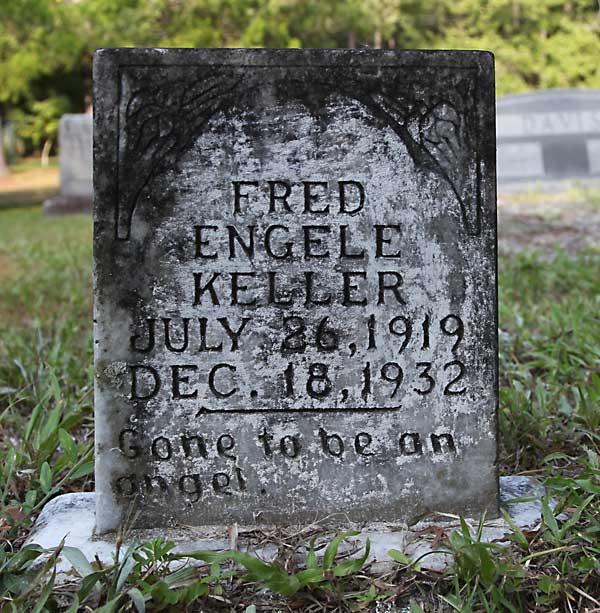 Fred Engele Keller Gravestone Photo