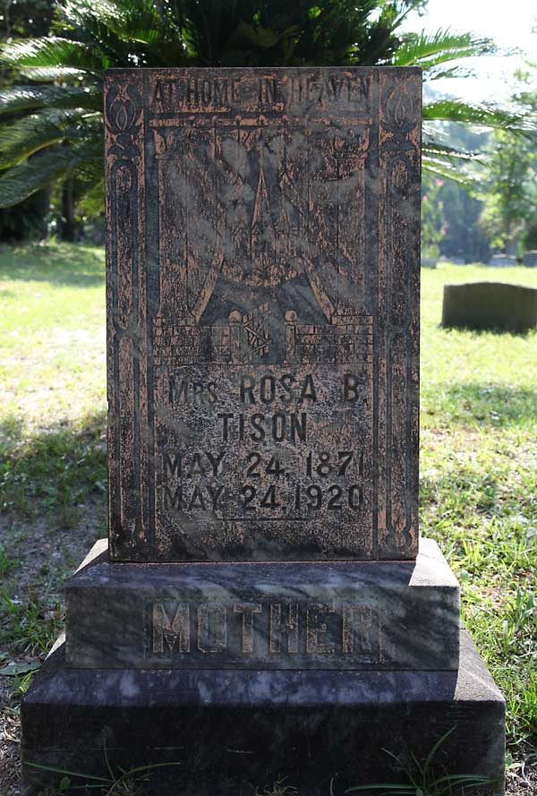 Mrs. Rosa B. Tison Gravestone Photo
