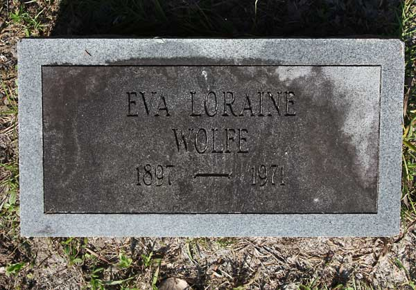 Eva Loraine Wolfe Gravestone Photo