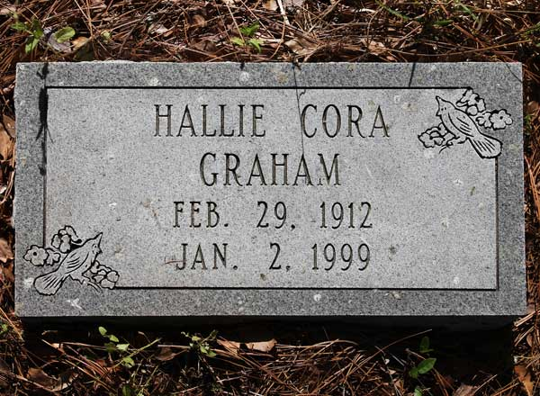 Hallie Cora Graham Gravestone Photo